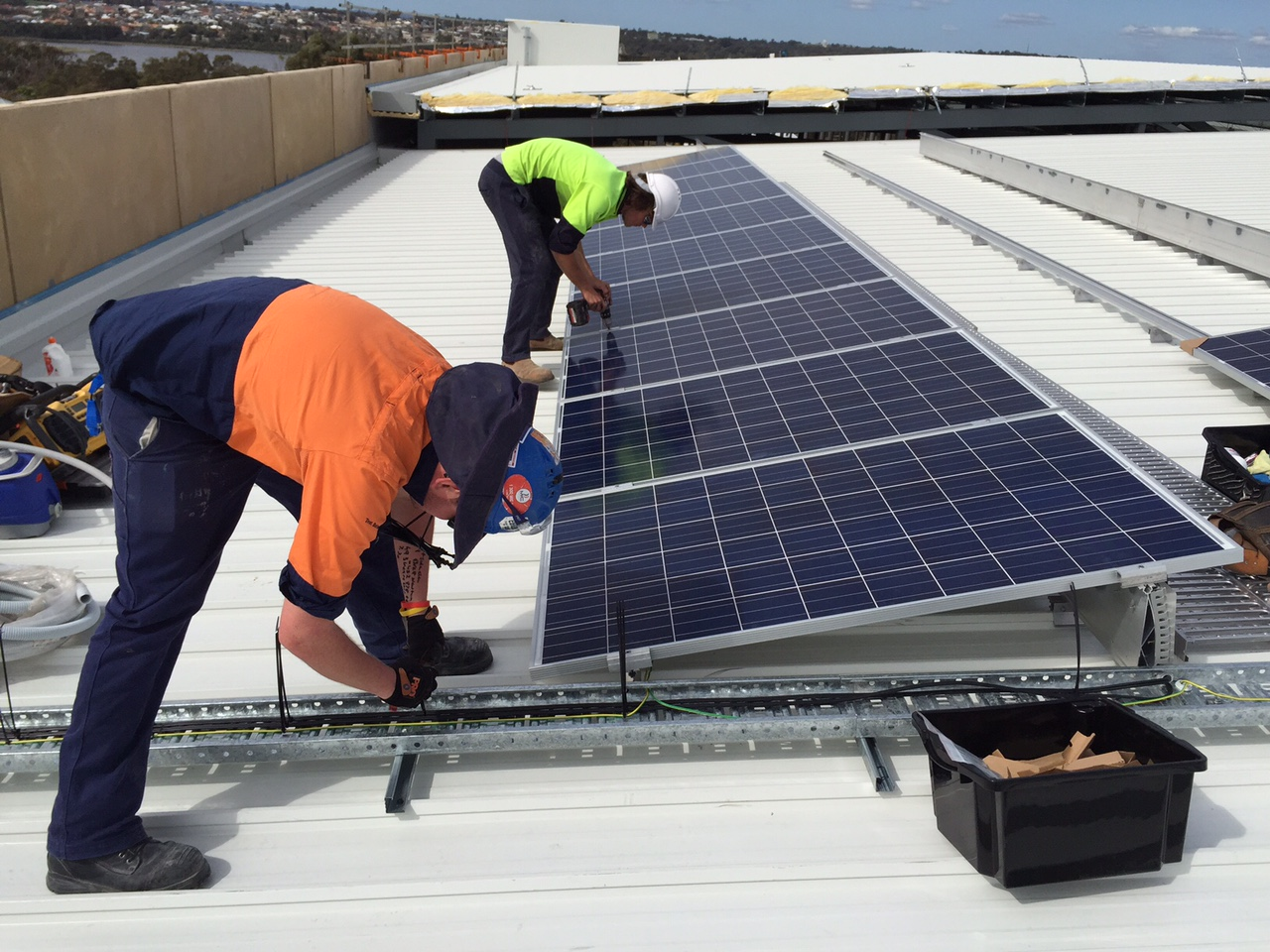 SMA commercial installation image with solar installers